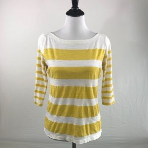 *SOLD* ANN TAYLOR LOFT 3/4 sleeve striped boat